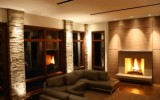 Glasgow Valley piers with custom Indiana fireplace