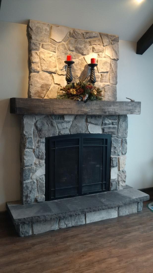 Masonal stone custom stone for Field stone fireplace